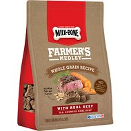 Milk-Bone Farmer's Medley Whole Grain Recipe Beef Flavor Dog Treats, 12-oz