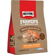 Milk-Bone Farmer's Medley Whole Grain Recipe Chicken Flavor Dog Treats, 12-oz