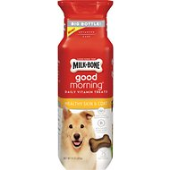 Milk-Bone Good Morning Healthy Skin & Coat Daily Vitamin Dog Treats, 15-oz
