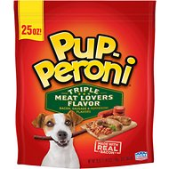 Pup-Peroni Triple Meat Lovers Bacon, Sausage & Pepperoni Flavor Dog Treats, 25-oz