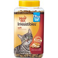 Meow Mix Irresistibles Soft White Meat Chicken Cat Treats, 17-oz cannister