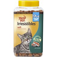 Meow Mix Irresistibles Soft Salmon Cat Treats, 17-oz cannister