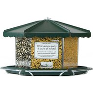 Homestead Triple Bin Party Bird Feeder, Green