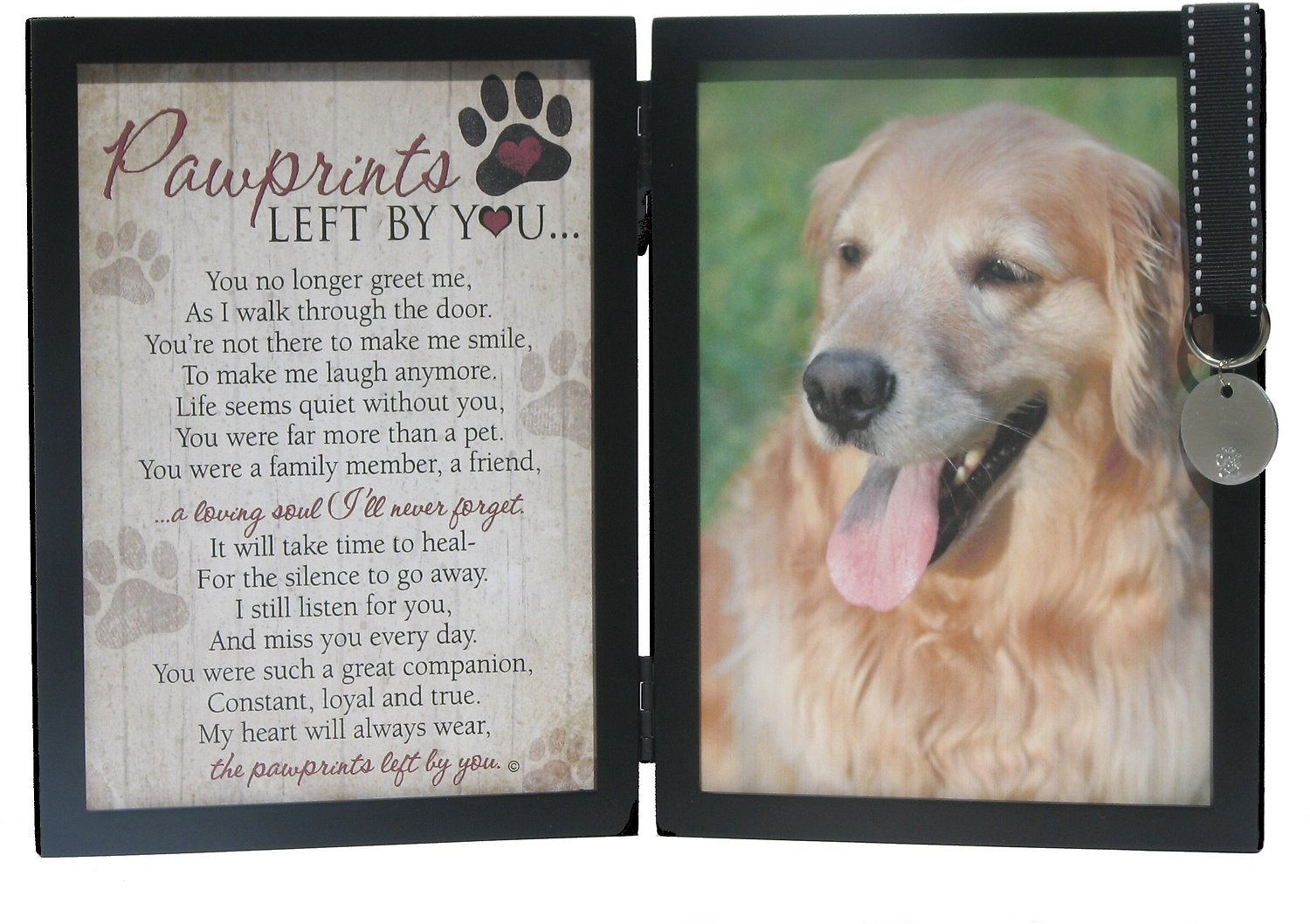 The grandparent gift co pawprints left by you dog picture frame video jeuxipadfo Image collections