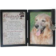 "The Grandparent Gift Co. ""Pawprints Left by You"" Dog Picture Frame, 5 x 7"