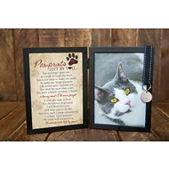 "The Grandparent Gift Co. ""Pawprints Left by You"" Cat Picture Frame, 5 x 7"