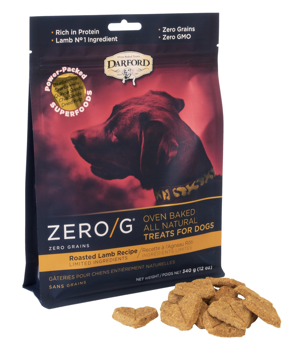 Darford Zero/G Roasted Lamb Dog Treats, 12-oz bag - Chewy.com