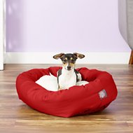 Majestic Pet Sherpa Bagel Dog Bed, 24-inch, Red