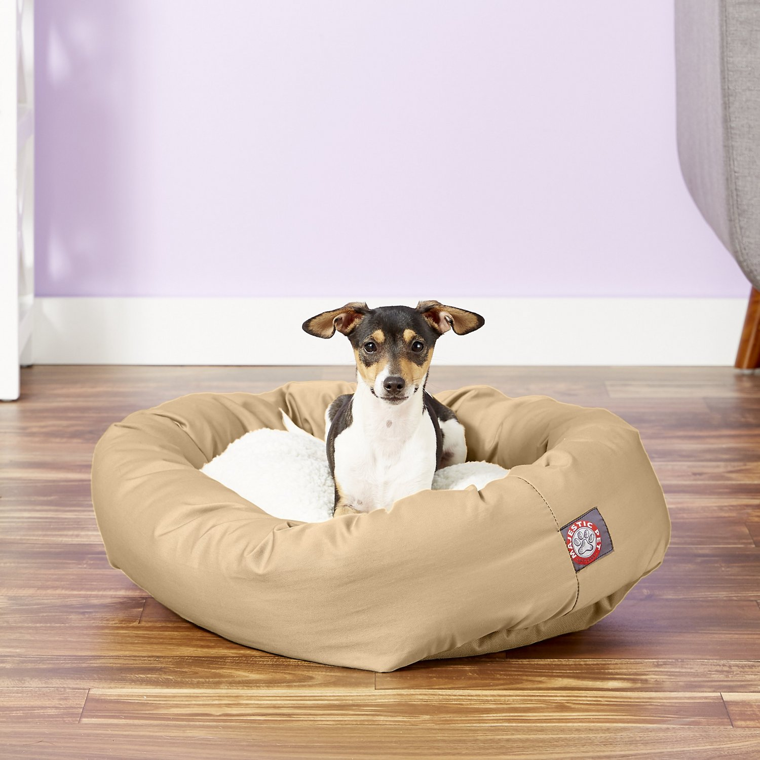 Terrific Majestic Pet Sherpa Bagel Dog Bed Khaki 24 In Machost Co Dining Chair Design Ideas Machostcouk