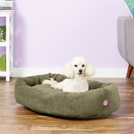 Majestic Pet Suede Bagel Dog Bed, Sage, 32-in
