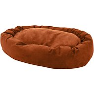 Majestic Pet Suede Bagel Dog Bed, Rust, 52-in