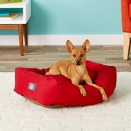 Majestic Pet Bagel Dog Bed, Red, 24-in