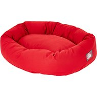 Majestic Pet Bagel Dog Bed, Red, 40-in