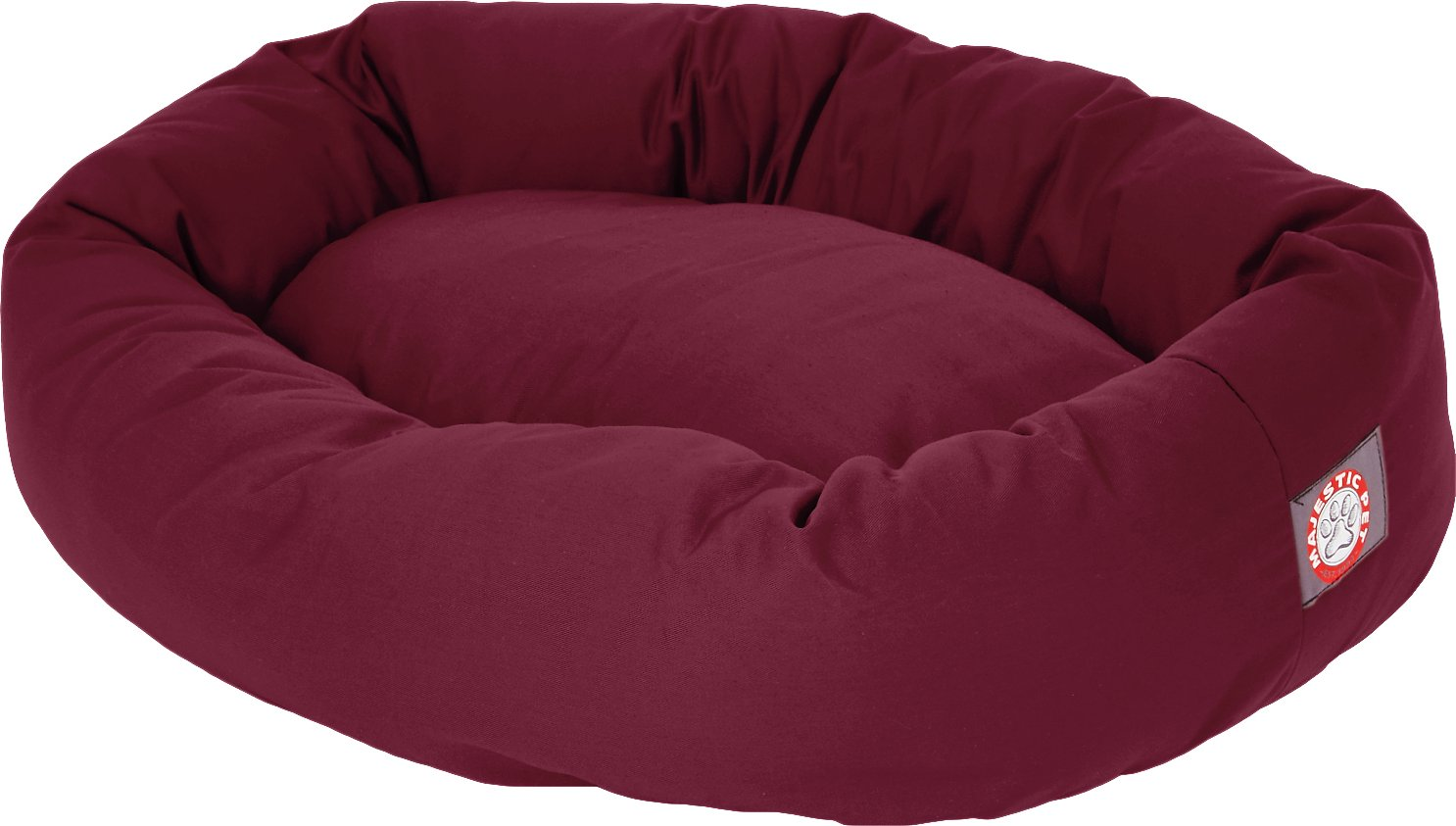 majestic pet bagel dog bed 52 inch burgundy chewy com
