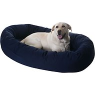 Majestic Pet Bagel Dog Bed, Blue, 52-in