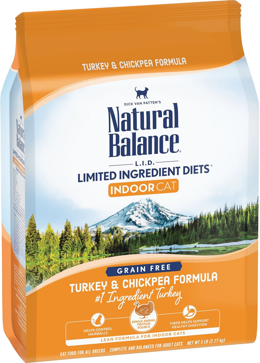73880aa847 Natural Balance L.I.D. Limited Ingredient Diets Indoor Grain-Free Turkey    Chickpea Formula Dry Cat Food
