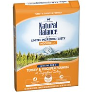 Natural Balance L.I.D. Limited Ingredient Diets Indoor Grain-Free Turkey & Chickpea Formula Dry Cat Food, 10-lb bag
