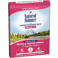 Natural Balance L.I.D. Limited Ingredient Diets Indoor Grain-Free Salmon & Chickpea Formula Dry Cat Food, 10-lb bag