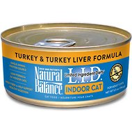 Natural Balance L.I.D. Limited Ingredient Diets Indoor Grain-Free Turkey & Turkey Liver Formula Wet Cat Food, 5.5-oz, case of 24