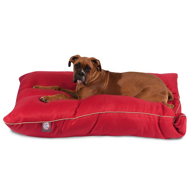 Majestic Pet Super Value Dog Bed, Red, Large - Chewy.com