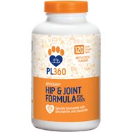 PL360 Arthogen Hip & Joint Dog Supplement, Beef & Cheese Flavor, 120 count