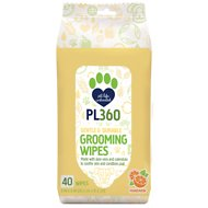 PL360 Mandarin Scented Dog Grooming Wipes, 40 count