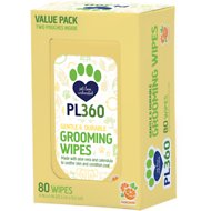 PL360 Mandarin Scented Dog Grooming Wipes, 80 count