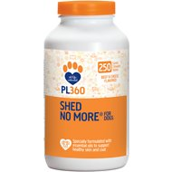 PL360 Shed No More Beef & Cheese Flavored Dog Supplement, 250 count