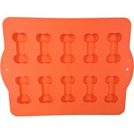 Hugs Pet Products Silicone Baking Pan, Dog Bone, Orange