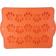 Hugs Pet Products Silicone Baking Pan, Paw Print, Orange