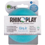 GoDog RhinoPlay Cirq Dog Toy, Junior, Teal
