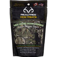 Hugs Pet Products RealTree Mini Bites Duck Chewy Dog Treats, 5-oz bag