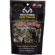 Hugs Pet Products RealTree Pork Chips Chewy Dog Treats, 1.5-oz bag