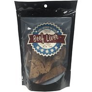 Chasing Our Tails Single Ingredient Beef Liver Freeze-Dried Dog Treats, 3-oz bag