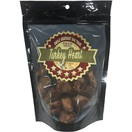 Chasing Our Tails Single Ingredient Turkey Heart Freeze-Dried Dog Treats, 3-oz bag