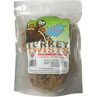 Chasing Our Tails Turkey Twists Single Ingredient Turkey Tendon Dog Treats, 8-oz bag