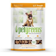 Pet Greens Li'l Treats Bacon & Cheese Flavor Dog Treats, 6-oz bag