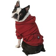 PetRageous Designs Bentley's Fur-lined Dog & Cat Hoodie, Red, Small