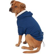 PetRageous Designs Bentley's Fur-lined Dog & Cat Hoodie, Royal Blue, Medium