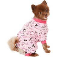 PetRageous Designs I Love Paris Dog PJs, Pink, Small