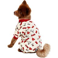 PetRageous Designs Firetruck Dog PJs, Cream, Small