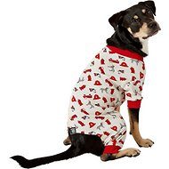 PetRageous Designs Firetruck Dog PJs, Medium