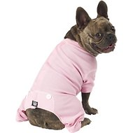 PetRageous Designs Cozy Thermal Dog PJs, Pink, Medium