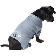 PetRageous Designs Cozy Thermal Dog PJs, Blue with White Stitching, Small