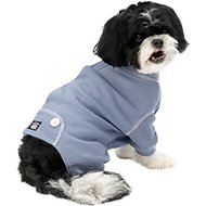 PetRageous Designs Cozy Thermal Dog PJs, Blue, Medium