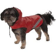 PetRageous Designs London Dog Slicker, Red, Small