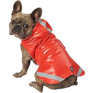 PetRageous Designs London Dog Slicker Raincoat, Red, Medium