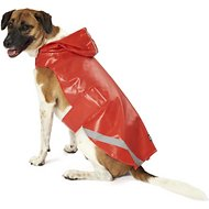 PetRageous Designs London Dog Slicker Raincoat, Red, Large