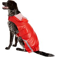 PetRageous Designs London Dog Slicker Raincoat, Red, XX-Large
