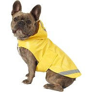 PetRageous Designs London Dog Slicker Raincoat, Yellow, Medium